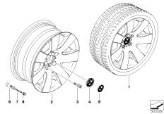 BMW LA wheel, star spoke 123