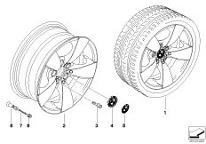 BMW light alloy wheel, spider spoke 138