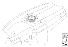 Individual audio system,instrument panel