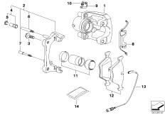 Front wheel brake, brake pad sensor