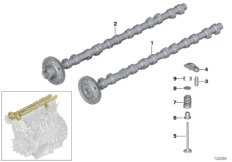 Timing and valve train-camshaft