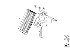 Amplifier/bracket, Indiv. audio system