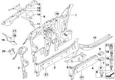 Wheelhouse/engine support