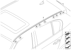 Roof moulding/Roof rail