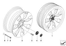 BMW light alloy wheel, spider spoke 158