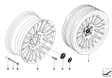 BMW light alloy wheel, spider spoke 160