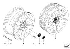 BMW alloy wheel, double spoke 161