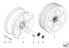 BMW light alloy wheel, spider spoke 199