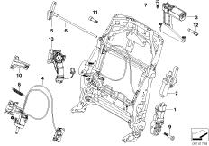 Seat, front, el.system& drives, backrest