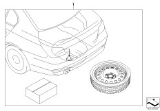 Retrofit emergency wheel