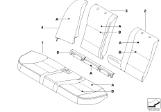 Individual cover, sports seat, rear