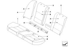 Individual cover rear comfort seat