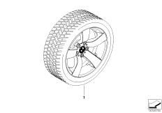 Winter complete wheel star spoke 122