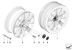 BMW alloy wheel, M spider spoke 193