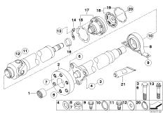 Drive shaft, single components, 4-wheel