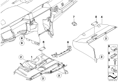 Mounting parts, instrument panel, bottom