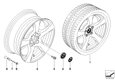 BMW light alloy wheel, spider spoke 157