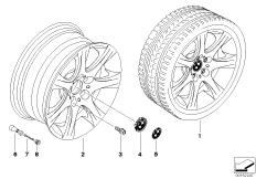 BMW LA wheel, star spoke 185