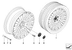 BMW LA cast wheel, radial spoke 190