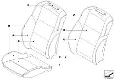 Individual cover, sport seat, front, LC