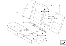 Individual cover, sport seat, rear, LC