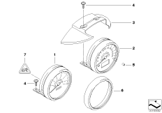 Single instruments, steering column