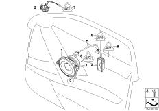 Individual audio system, door front