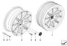 BMW alloy wheel, M double spoke 225
