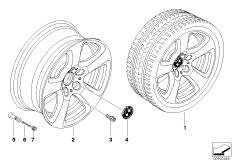BMW LA wheel, start spoke 243