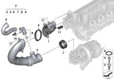 Hot-film air mass meter/clean air pipe