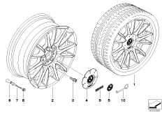 BMW LA wheel,individual, V-spoke 228