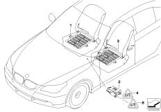 Electr.compon.seat occupancy detection