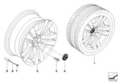 BMW LA wheel double spoke 278