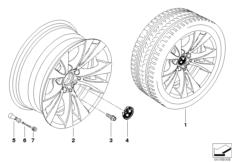 BMW LA wheel V-spoke 277