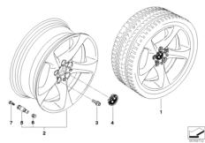 BMW LA wheel, star spoke 230