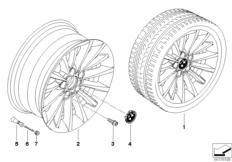 BMW LA wheel multi-spoke 284
