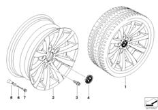 BMW LA wheel V-spoke 285