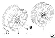 BMW LA wheel star spoke 286