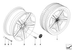 BMW LA wheel star spoke 287