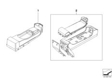 Single parts, SA 633, centre console