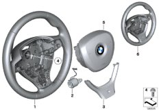Airbag sports steering wheel multifunct.