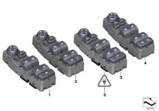 Oper. unit, switch cluster, door, front