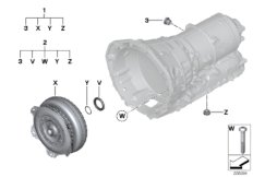 GA8HP50Z Torque converter/seal elements