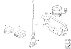 Official-use radio aerial/pr.-ch.speaker