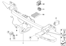 Trailer tow hitch, electrically pivoted
