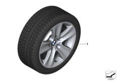 Winter wheel&tyre, star spoke 327