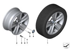 BMW LA wheel, star spoke 327 - 17''