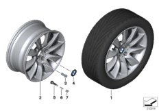 BMW LA wheel turbine styling 329 - 18''