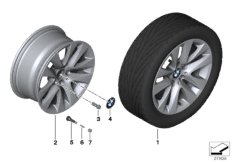 BMW LA wheel, V spoke 338