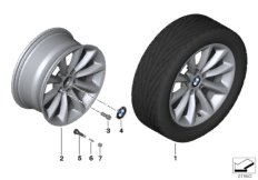 BMW LA wheel, star spoke 340